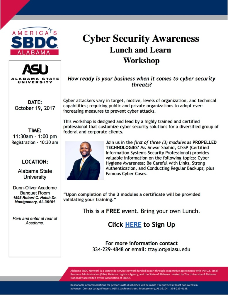 Flyer Cyber Security Propelled Oct 19 2017